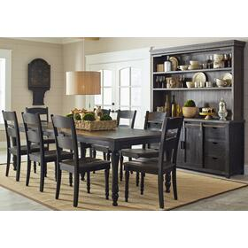 Madison County Ext Table & 4 Chairs Vintage Black