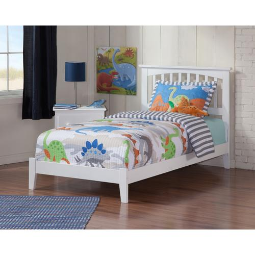 Atlantic Furniture - Mission Twin Bed in White