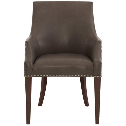 Keeley Leather Dining Chair in Cocoa Finishes Available Cocoa (CN1) Portobello (PN1) Smoke (SN1) Nailhead Finish Shown #1 Brass
