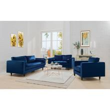 NAVY SOFA W/2 PILLOWS