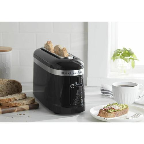 KitchenAid - 2 Slice Long Slot Toaster with High-Lift Lever - Onyx Black