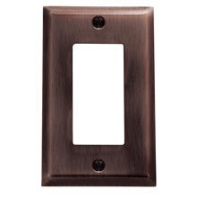 Venetian Bronze Beveled Edge Single GFCI