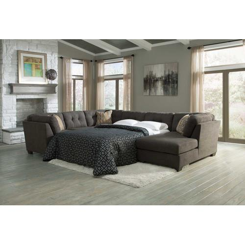 Delta City 3-piece Sectional With Chaise and Sleeper