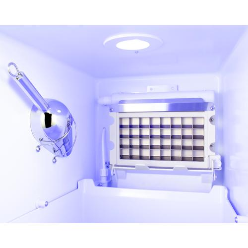 Summit - Built-in Outdoor 50 Lb. Clear Icemaker