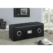 ACME Laila Sound Lounge Bench w/Bluetooth Speaker - 96528 - Black PU