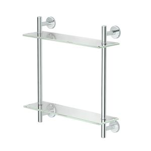 Latitude2 Two-Tier Glass Shelf in Chrome Product Image