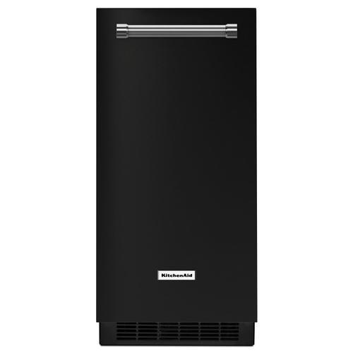 KitchenAid - KitchenAid® 15'' Automatic Ice Maker Black