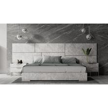 Product Image - Nova Domus Marbella - Italian Modern Grey Marble Bed w/ 2 Nightstands