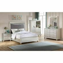 ACME Maverick Twin Bed - 31800T - Glam - Velvet, Wood (Poplar), MDF - Velvet and Platinum