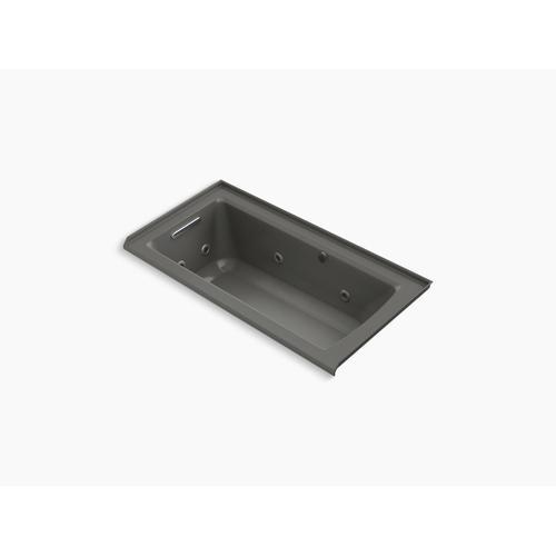 "Thunder Grey 60"" X 30"" Alcove Whirlpool Bath With Bask Heated Surface"