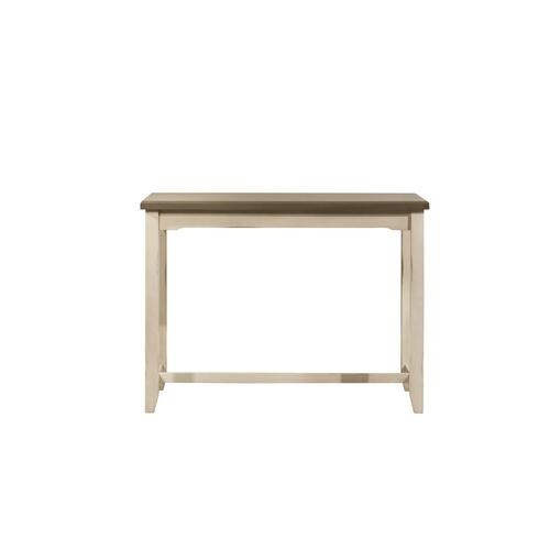 Gallery - Clarion Counter Height Side Table - Distressed Gray Top With Sea White Base