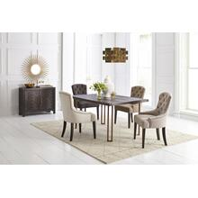 Gramercy Dark Chevron Dining Table