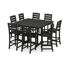 View Product - Lakeside 9-Piece Bar Side Chair Set in Black