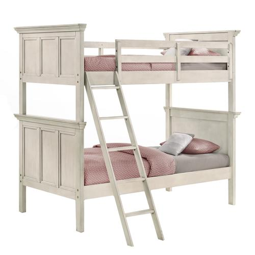 San Mateo Twin over Twin Bunk Bed  Rustic White