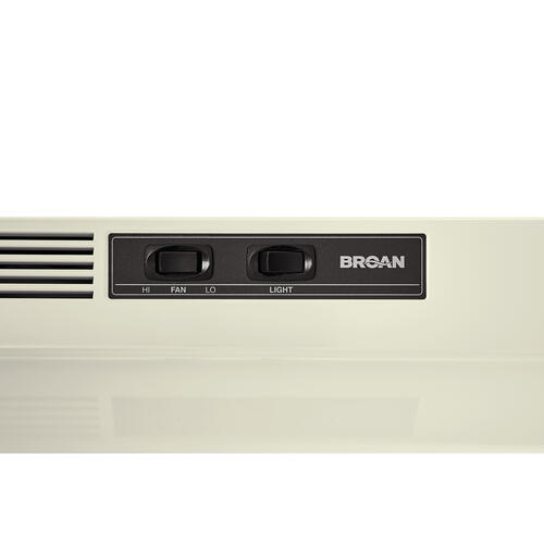 Broan® 30-Inch Ductless Under-Cabinet Range Hood w/ Easy Install System, Bisque
