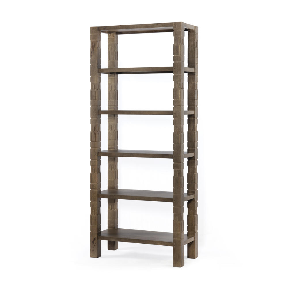 Dusty Brown Finish Burge Bookshelf