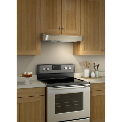 Broan® Antero 30-Inch Under-Cabinet Range Hood, 375 MAX Blower CFM, Stainless Steel