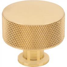 View Product - Beliza Cylinder Knurled Knob 1 3/8 Inch Polished Brass Polished Brass