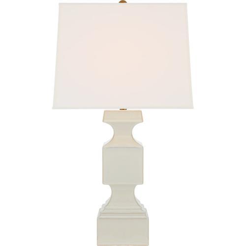 Visual Comfort - E. F. Chapman Finley 32 inch 100 watt Ivory Table Lamp Portable Light, Large