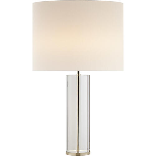 AERIN Lineham 30 inch 60 watt Crystal with Polished Nickel Table Lamp Portable Light