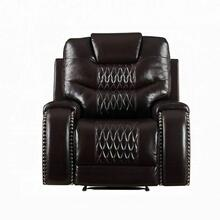 ACME Braylon Recliner (Motion) - 55417 - Contemporary - PU, Frame: Wood (Hemlock/Fir, Ply), Foam (D28), Metal Reclining Mechanism - Brown PU