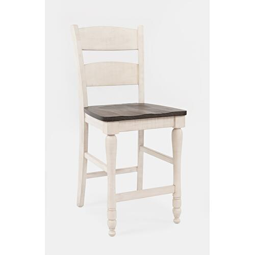 Madison County Ladderback Counter Stool (2/ctn) - Vintage White