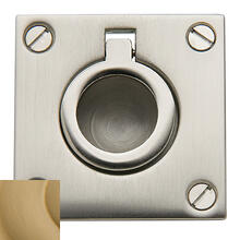 Vintage Brass Flush Ring Pull