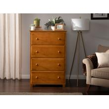 See Details - Atlantic 4 Drawer 48 inch Chest in Caramel Latte