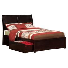 Portland Full Flat Panel Foot Board with 2 Urban Bed Drawers Espresso