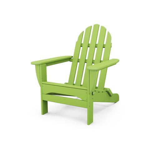 Lime Classic Folding Adirondack Chair