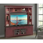 AMERICANA MODERN - CRANBERRY 92 in. TV Console with Hutch and LED Lights Product Image