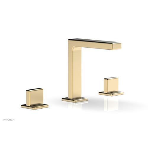 "MIX Widespread Faucet - Blade Handle 6-3/4"" Height 290-01 - Satin Brass"