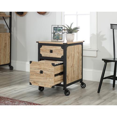 Product Image - Metal & Wood Rolling Pedestal File Cabinet