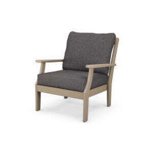 Polywood Furnishings - Braxton Deep Seating Chair in Vintage Sahara / Ash Charcoal
