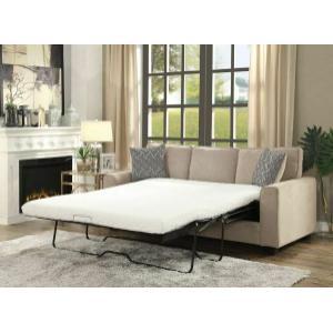 ACME Catherine Sofa w/Sleeper (2 Pillows) - 52298 - Khaki Fabric