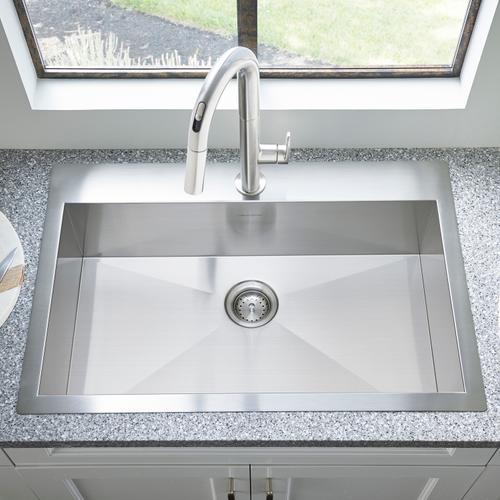 "American Standard - Edgewater® 33x22"" ADA Single Bowl Stainless Steel Kitchen Sink  American Standard - Stainless Steel"