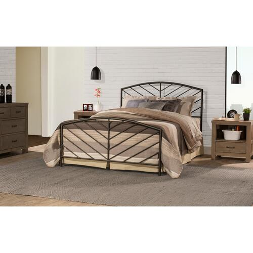 Essex Full Metal Bed With Frame, Metallic Brown