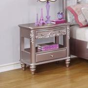 Caroline Metallic Lilac Nightstand Product Image