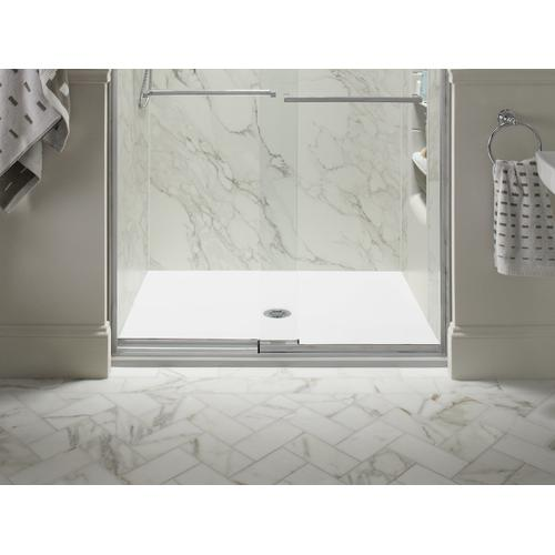 "White 48"" X 36"" Shower Base With Center Drain"
