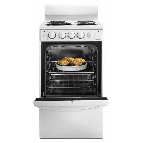 "Amana 20"" White Coil Top Electric Range"