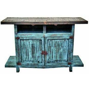 Million Dollar Rustic - Turquoise TV Stand