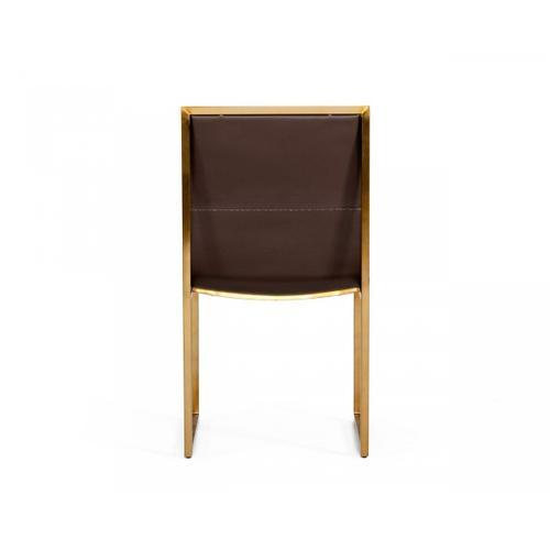 VIG Furniture - Modrest Dalton - Modern Brown Leatherette Dining Chair ( Set of 2 )