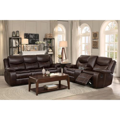 Gallery - Double Glider Reclining Love Seat with Center Console