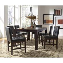 Rectangular Dining Table - Dark Chocolate Finish