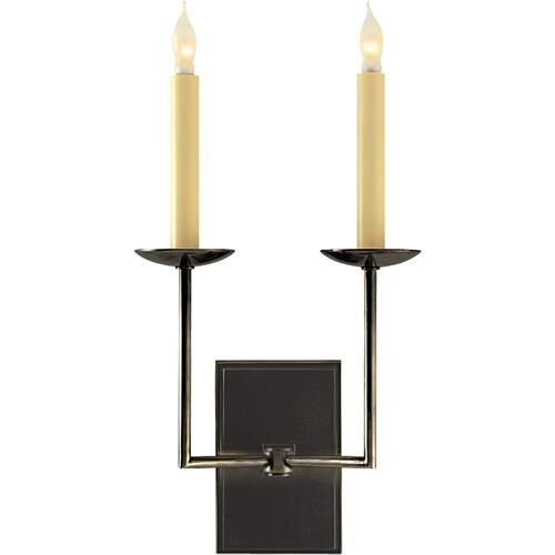 E. F. Chapman Right Angle 2 Light 10 inch Bronze Decorative Wall Light