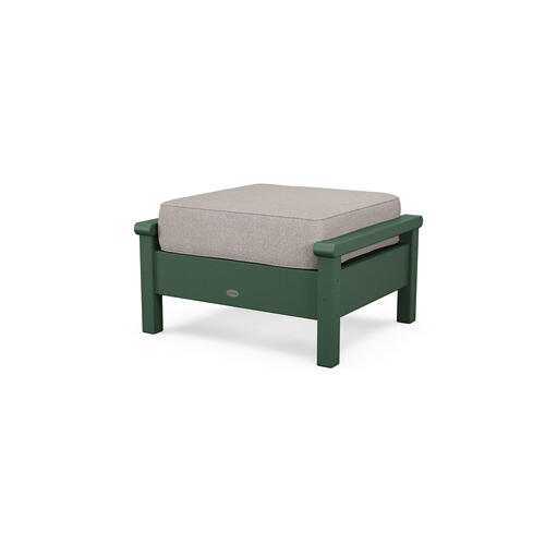 Green & Weathered Tweed Harbour Deep Seating Ottoman