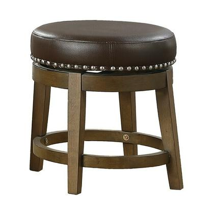 See Details - Round Swivel Stool, Brown