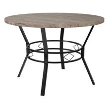 "45"" Round Dining Table in Distressed Gray Wood Finish"