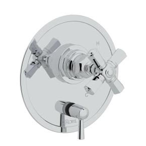 San Giovanni Pressure Balance Trim with Diverter - Polished Chrome with Cross Handle