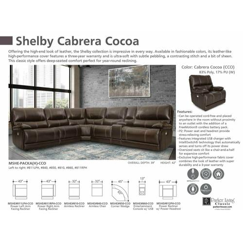 Parker House - SHELBY - CABRERA COCOA Manual Armless Recliner